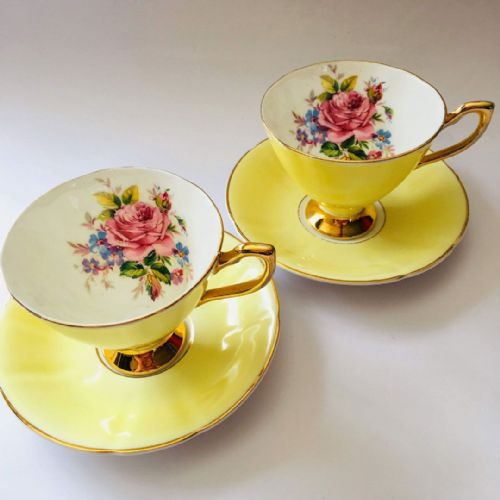 Luberne - Bone China - Rose Floral Duo  x  2
